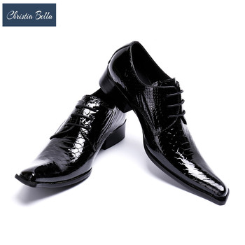Christia Bella Italian Fashion Handmade Mens Crocodile Leather Shoes Business Dress Suit Men Shoe Zapatos Mujer Best Gifts