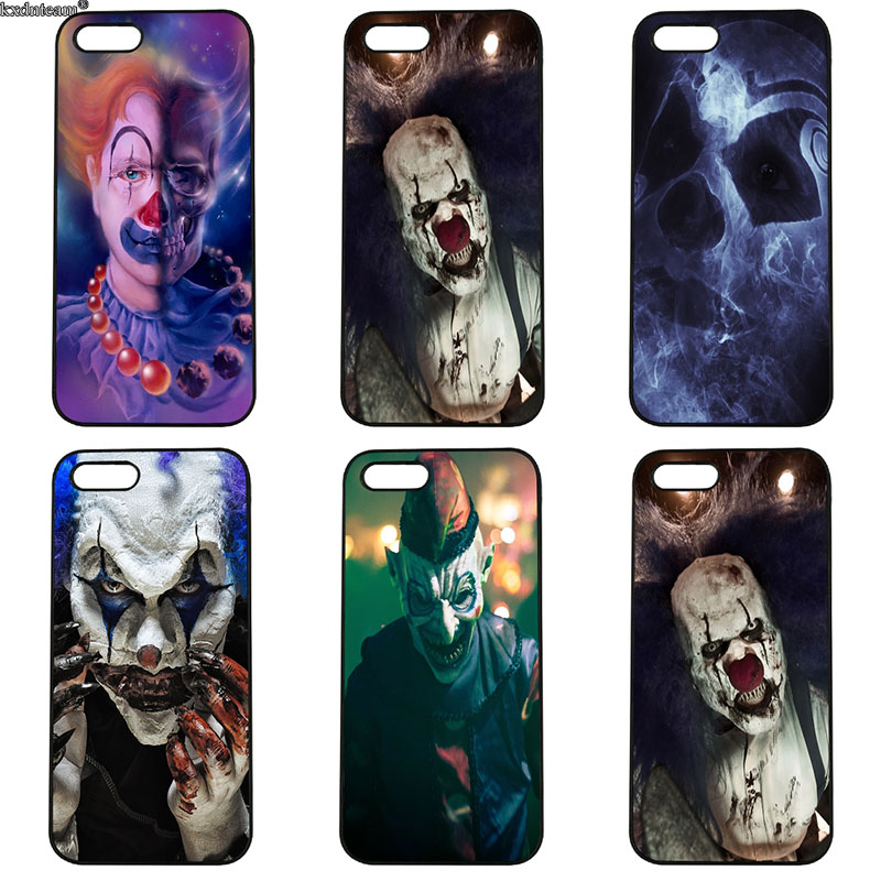 Pennywise The Clown Horror Cell Phone Case Hard Plastic Cover for iphone 8 7 6 6S Plus X 5S 5C 5 SE 4 4S iPod Touch 4 5 6 Shell
