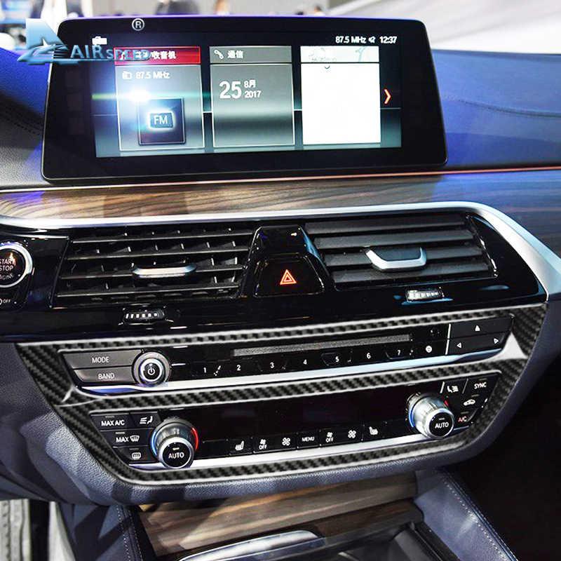Velocità per BMW 5 Serie G30 528i 530i 540i Auto In Fibra di Carbonio Centrale Console Cornice Decorativa Sticker Trim Accessori Per Interni