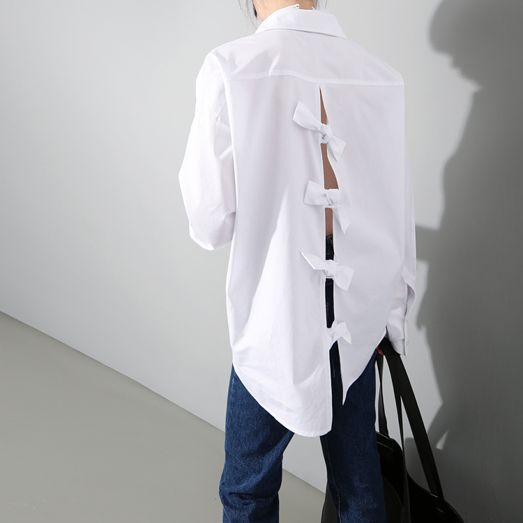 Buy ladies fashion new spring backless for Buy white dress shirt