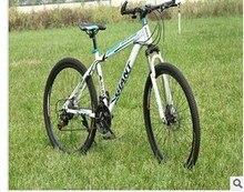 free shipping 26″ 21 speed black rainbow classic men's mountain bike cycling road bicycle double disc brake men & women cycling
