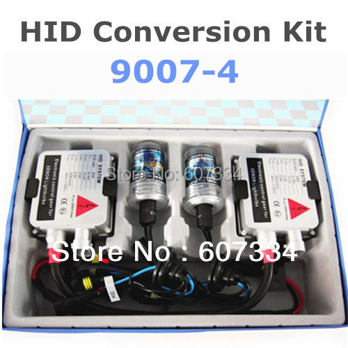 Stock Shipping New 12V/35W CE HID Xenon Conversion Kit (9007-4)Hi/Low by Xenon Lamp Swing(3000K/4300K/6000K/8000K) For Headlight
