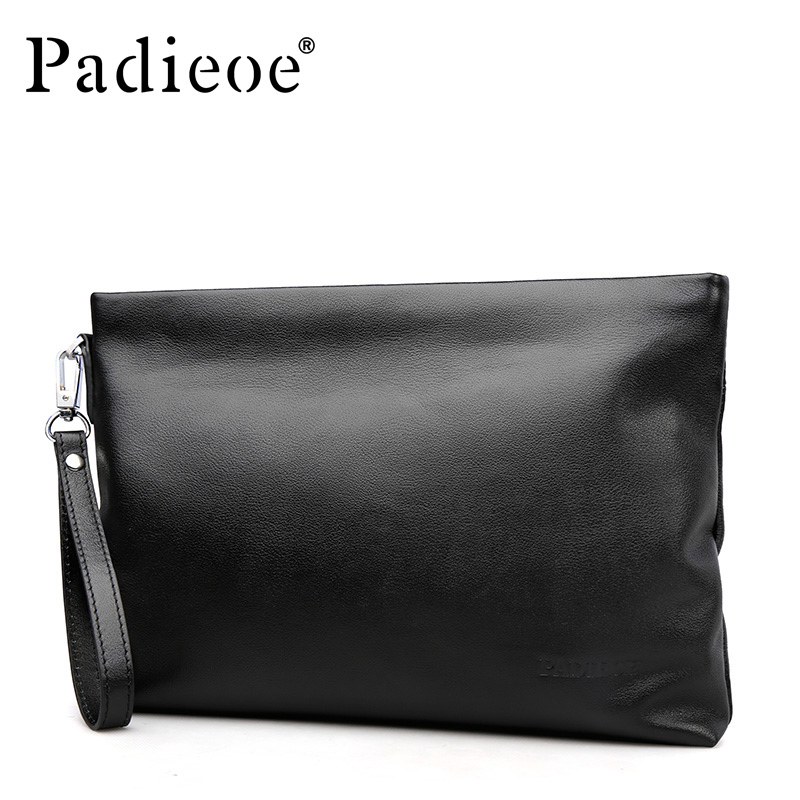 Padieoe Fashion Brand Men Bag Genuine Leather Mens Clutch Bags Black Business Male Envelope BagPadieoe Fashion Brand Men Bag Genuine Leather Mens Clutch Bags Black Business Male Envelope Bag