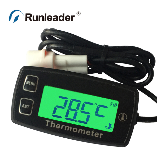 Thermometer with RL-TS001 PT100 20- +300 temp sensor for motorcycle tractor stump grinder snowmobile snow blower outboard