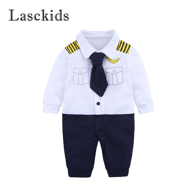 703fcda32ba7 Lasckids Toddler Jumpsuit Bebe Baby Romper Clothes Infant Newborn Gentleman  Autumn Long Sleeve Cotton Baby Jumpsuits Rompers
