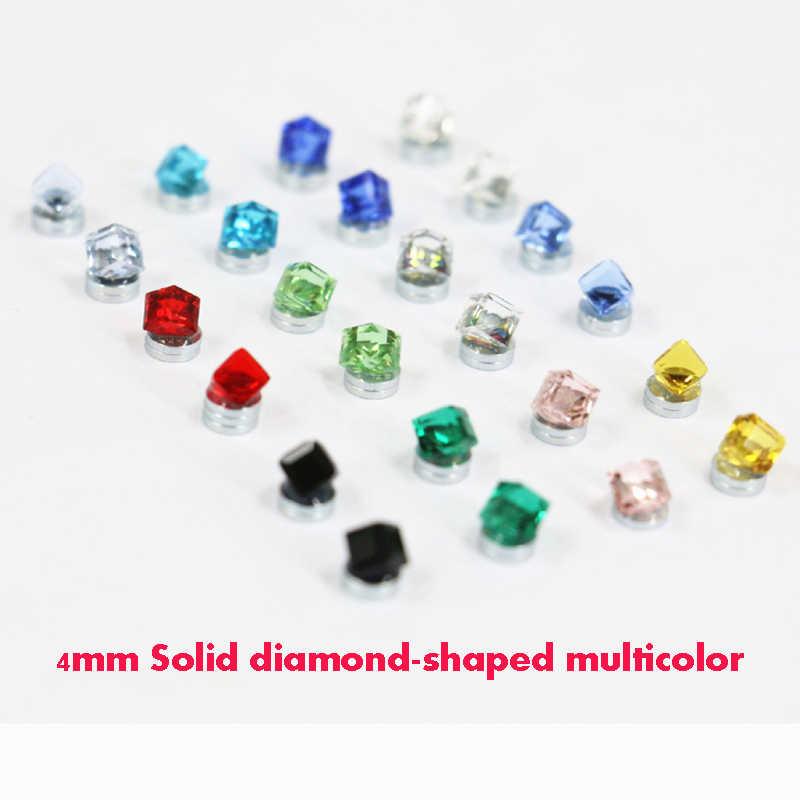 1 par 6mm Unisex Redondos de Cristal Claro clip magnético en Arito Para Cumpleaños