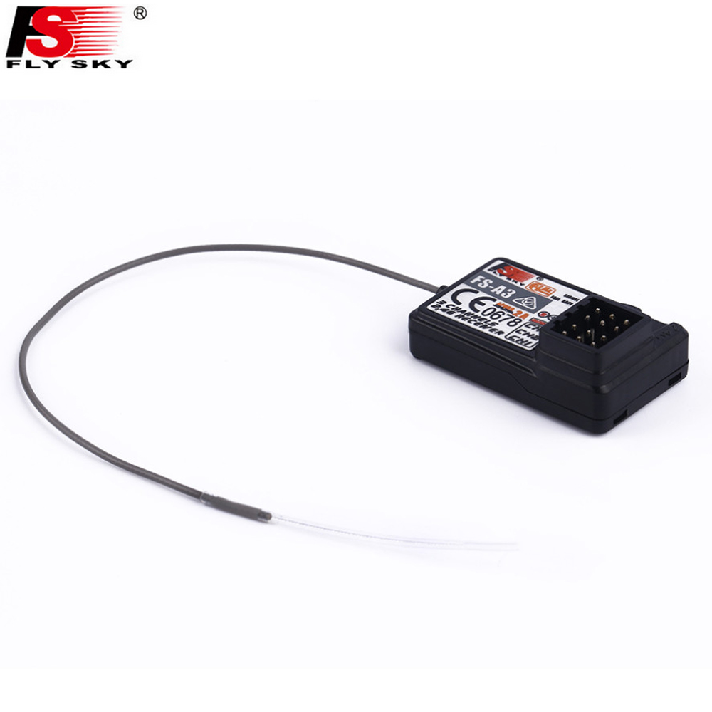 Wholesale 5pcs Original Fly sky 2 4G Flysky FS A3 3 Channel Receiver for RC Car