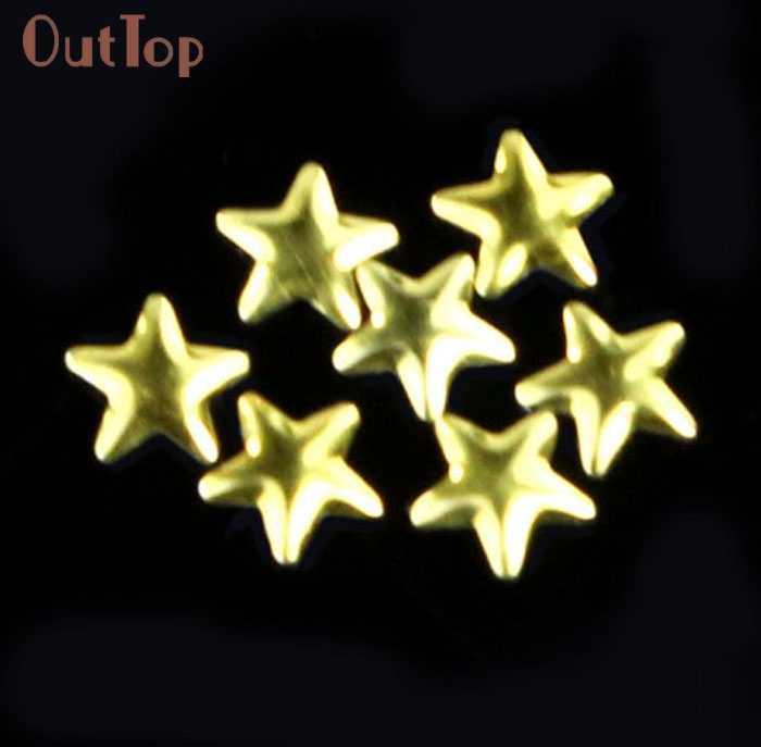 Красота девушки золотые наклейки для ногтей серебро 5 мм звезда металлические ногтевые украшения инструменты для украшения Aug 24