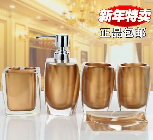 Free shipping four pieces set of resin bathroom supplies kit sanitary ware bathroom accessories bathroom storage