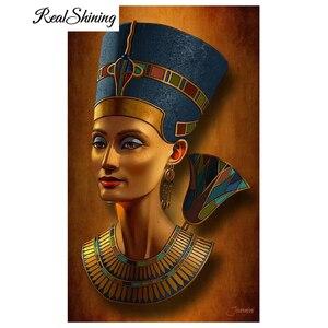 Алмазная картина REALSHINING 5D diy, вышивка крестом «неfertiti египетская королева», полностью Алмазная вышивка, мозаика с бисером FS2748