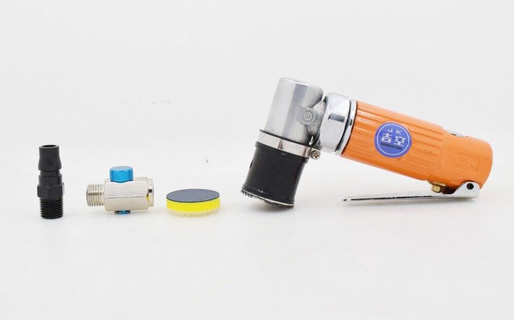 JIKONG Pneumatic Tools Air Tools Right Angle 90 Degrees Mini Spot Repair Angle Orbital Sander Polisher 1 Inch Pad 3125 30mm 25mm