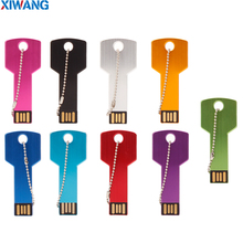xiwang usb flash drive 32gb USB 2.0 Pen Drive 128gb 64GB 16gb 8gb 4gb pendrive waterproof Metal Key Memory Stick Free Shipping