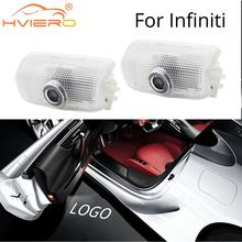 2X Welcome Door Shadow Courtesy Projection Lamp Laser For INFINITI FX G-Series Q50 Q60 M-Series EX-Series QX50 QX70 QX56 QX80 1 10set welcome light for infiniti q50 q70 q60 qx50 qx70 qx80 fx g m ex series car door light logo projector atmosphere lamp