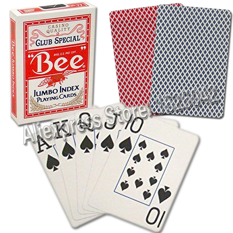 BEE Poker Size 2 Jumbo Index Casino Quality Paper Playing Cards Made In USA