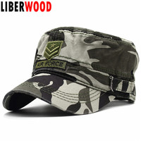 483b569061f LIBERWOOD New Tactical Hats embroidered Air Force Baseball caps for Men 100% Cotton camouflage ARMY