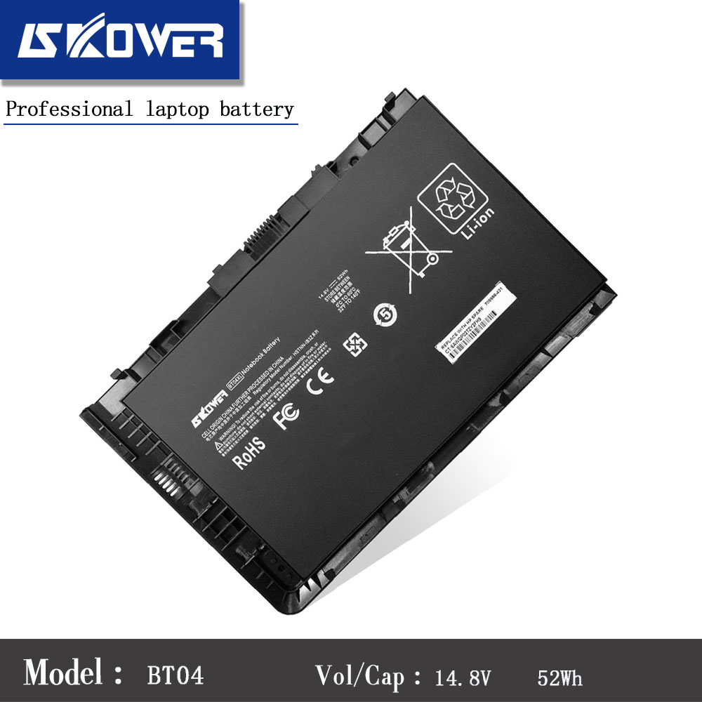 SKOWER 14.8V 52wh BT04XL Battery For HP EliteBook Folio 9470 9470M Series HSTNN-IB3Z HSTNN-I10C BT04 BA06 687517-1C1 Laptop new keyboard for hp elitebook folio 9470 9470m 9480 697685 backlist ru russian swiss layout