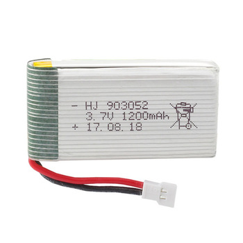 3.7V 1200mAh LiPo Battery for X5SW X5SC X5HW X5HC X5UW X5UC battery with Charger Drone 3.7 V 1200 mah Lipo image