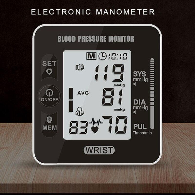 Neue Digitale Blutdruck Herz Monitor Tensiometer Handgelenk Tonometer Automatische Blutdruckmessgerät Bp Puls Rate Meter Dauerhaft Im Einsatz Blood Pressure