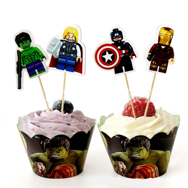 Decorate Birthday Boys Favors Baby Shower Party Hulkcaptain America