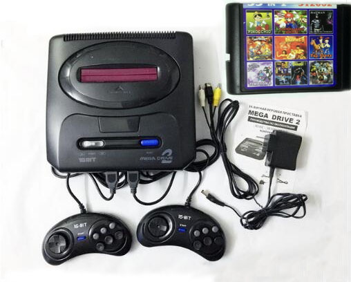 Console de jeu vidéo SEGA MD 2 16 bits avec commutateur de Mode américain et japonais, pour les poignées SEGA originales exportant la russie avec 55 jeux classiques