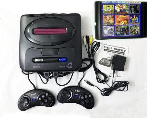 16 bits SEGA MD 2 Jeu Vidéo Console avec NOUS et Japon Commutateur de Mode, pour L'original SEGA poignées Exportation Russie avec 55 jeux classiques