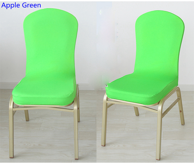 Apple Green Colour Spandex Half Chair Covers For Wedding Chair Decoration  Lycra Stretch Party Chair Cover