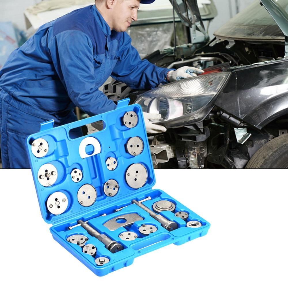 22 pièces ensemble voiture Auto roue cylindre disque frein Pad étrier séparateur remplacement Piston rembobinage main outil voiture réparation outils Kit bricolage