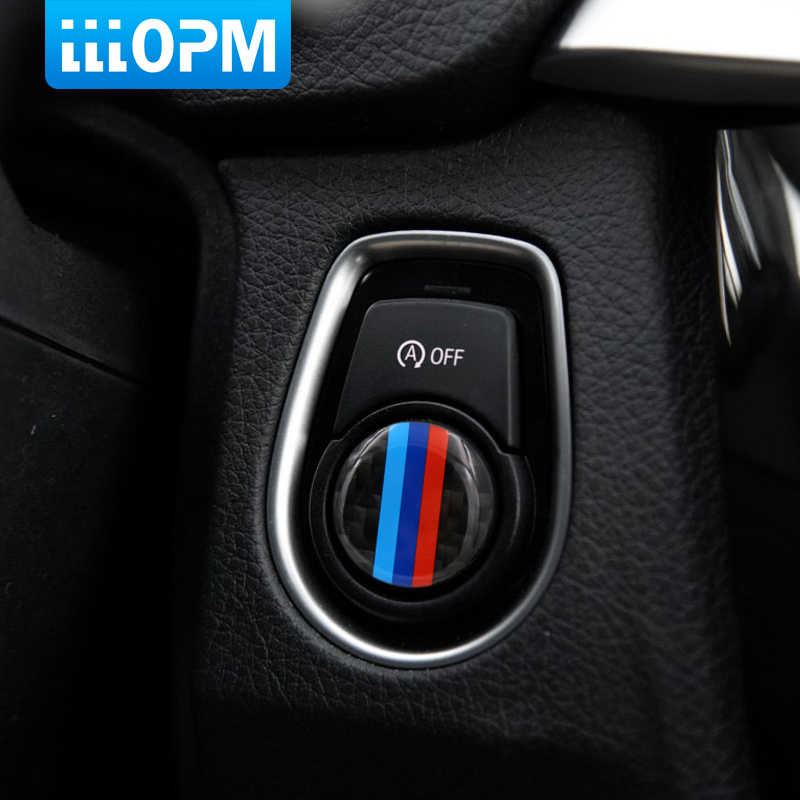 Garniture de bande de cercle M en Fiber de carbone pour BMW F30 316i 320i 328i F20 bouton de démarrage