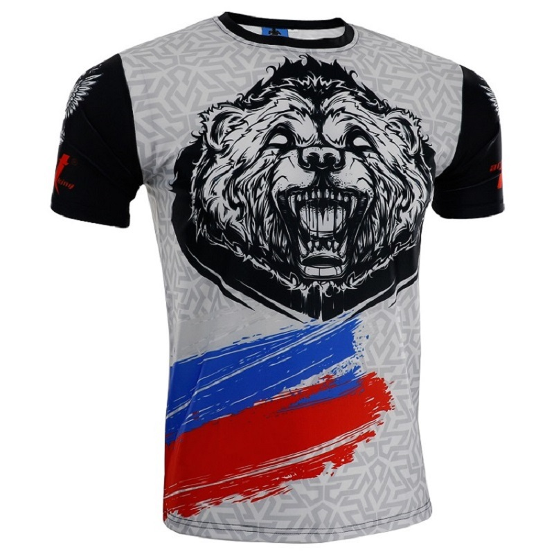 New Men's Boxing Jerseys Mma Short-sleeved Boxeo Rash Guards Muay Thai Bjj Rashguards Fitness Shirts JIU JITSU Fightwear