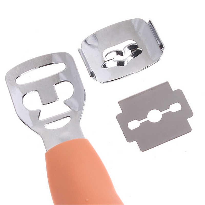 Pelle Rasoio Corn Cuticola Cutter Remover Raspa File di Pedicure Callo Del Piede 10 Lame Pratico Piede Raspa