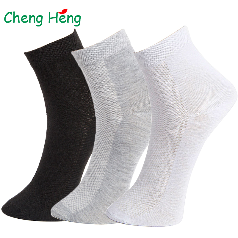 Spring Summer Business Casual Men's   Socks   Breathable Mesh Quality Cotton Black Gray White Deodorant Sweat Large Middle Long   Sock