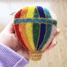 Ensso 2018 Handmade Purse Luxury Beading Balloon Cartoon Beaded Mini Shoulder Bag Colorful Wallet Embroider Beads Women