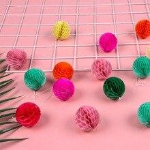 40pcs 5cm Mini Decorative Honeycomb Balls for Wedding Birthday Shower Nursery Christmas Party Room Decor