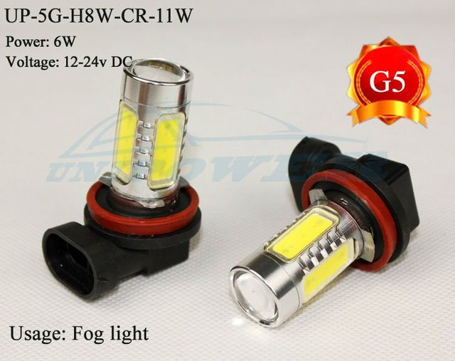 Hot selling High-power led fog light H8 11W the 5th generation LED FOG LIGHT CREE chip Free shipping