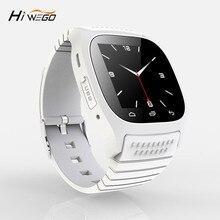 Hiwego marca sport smart watch smart m26 con dial sms recordar podómetro para android teléfono hombres mujeres smart watch bluetooth M26