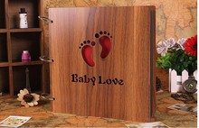 12 Inch Wooden Sculpture Print Children Diy Photo Album Scrapbooking Homemade Gift Handmade Baby Album Photo AL19156202
