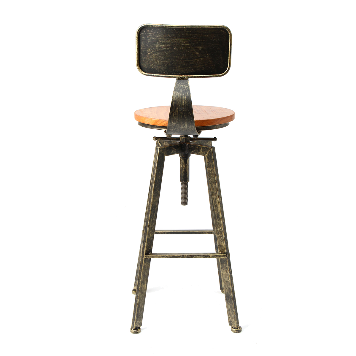 3 Colors Retro Industrial Bar Chair Stool Adjustable Wood Iron Stool 360 Degree Rotating Counter Lift High Chair Home Bar Decor3 Colors Retro Industrial Bar Chair Stool Adjustable Wood Iron Stool 360 Degree Rotating Counter Lift High Chair Home Bar Decor