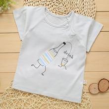 Baby T-shirt Summer Bamboo Fiber Short Sleeve T-shirt infant clothing baby wear baby boy clothing baby girls wear