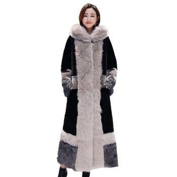 Long Fur Coat Women Hooded 2020 Autumn Winter New Fashion Plus size Faux Fur Coat Women Elegant Thick Warm Ladies fur coats Tide