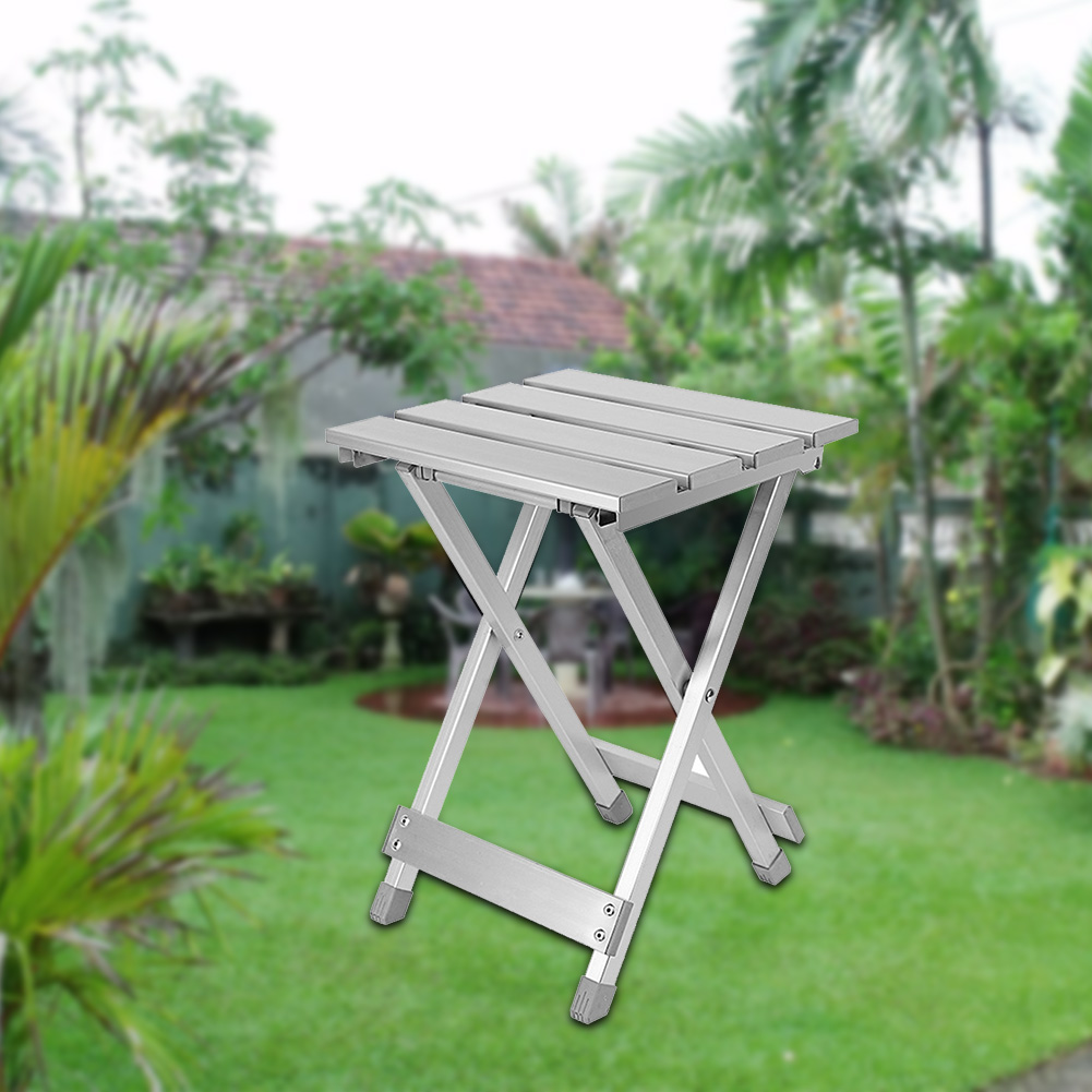 Portable Chair High Intensity Fishing Scratch Resistant Home Aluminum Alloy Multifunction Outdoor Folding Stool Space Saving(China)