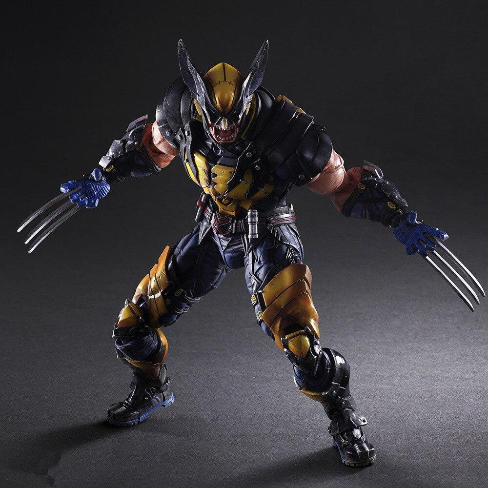 Jogar artes 26cm marvel X-MEN wolverine figura de ação modelo brinquedos