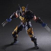 PLAY ARTS 26cm Marvel X MEN Wolverine Action Figure Model Toys