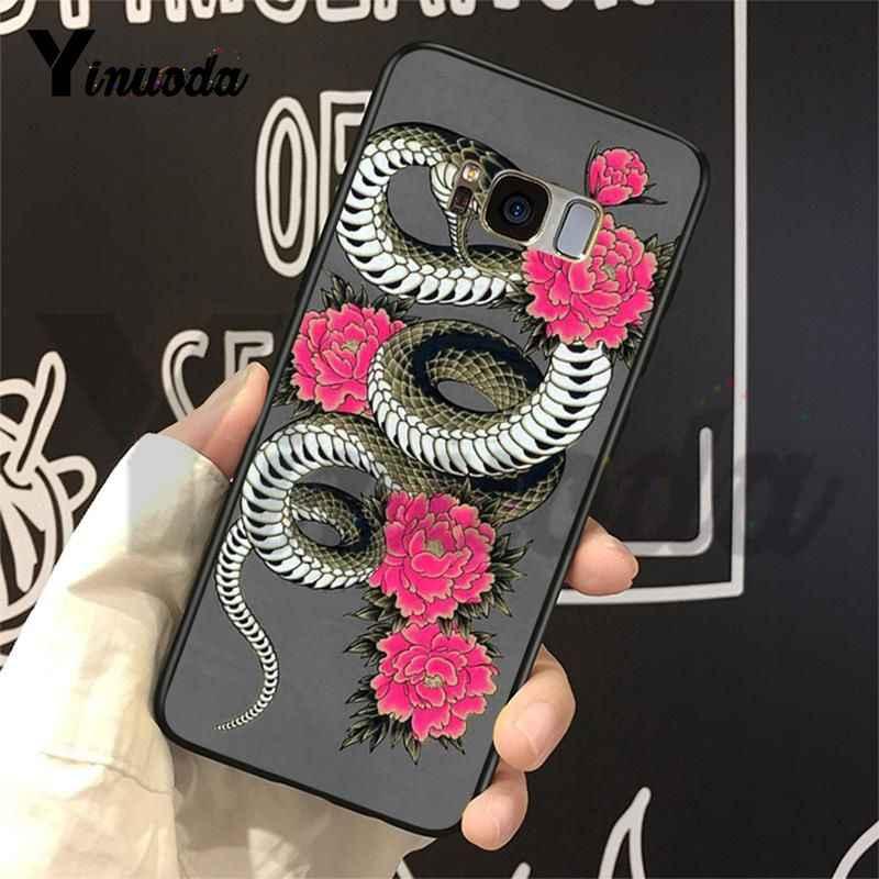 Yinuoda מקרה עבור גלקסי S9 בעלי החיים את נחש ושרך Splendid טלפון אביזרי מקרה לסמסונג גלקסי S4 S5 S6 s7 S8 S9