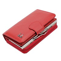 Classical New Women S Wallets Cowhide Leather Zipper And Hasp Coin Purses 3 Color High Quality