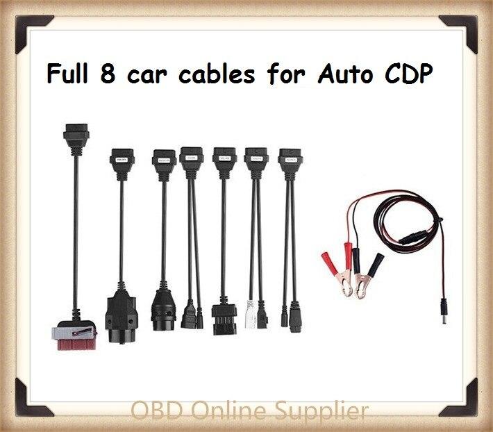 Prix pour Date 8 pcs CDP Pro câble OBD Scanner de Diagnostic de numérisation outil outils connecteur pour DELPHI DS150E avec livraison gratuite