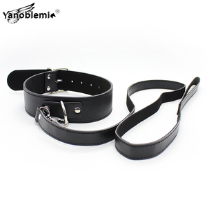 Collar Sex Bdsm Bondage PU Leather Choker Necklace Leash Erotic Products Sexy Toys For Woman Fetish Slave Restraints Adult Games(China)