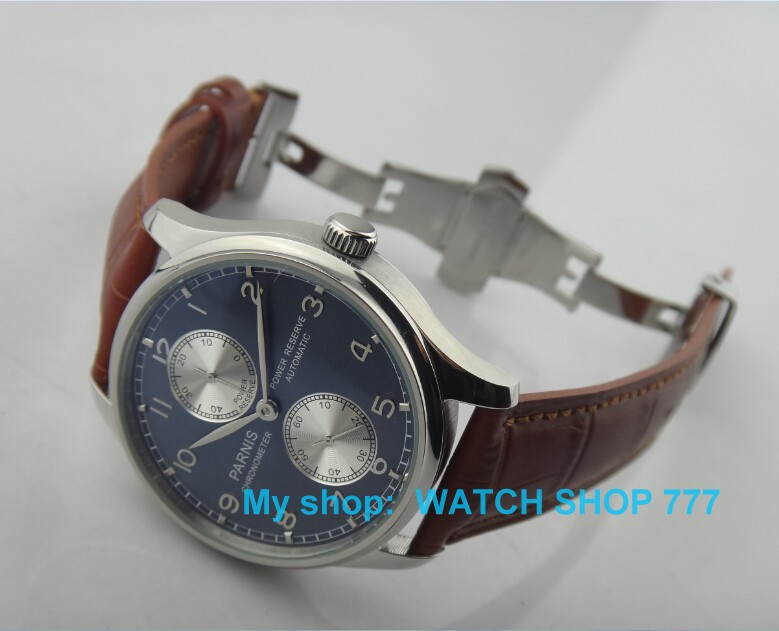 2016 new fashion 44mm PARNIS Automatic Self Wind movement men s watch high quality with Butterfly