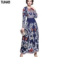 High Quality Dresses Women 2017 Autumn Runway Long Maxi Dress Women S Long Sleeve Floor Length