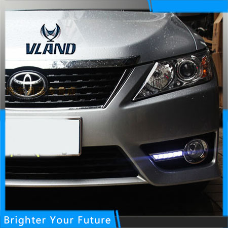 Daylight For Toyota Camry 2012-2014 White Daytime Running Lights DRL Front Fog Lamp daylight for toyota prado 2010 2013 white daytime running lights drl front fog lamp
