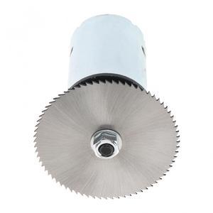 Image 5 - 24 فولت 555 موتور الجدول المنشار عدة مع الكرة تحمل تصاعد قوس و 60 مللي متر شفرة المنشار لقطع/تلميع